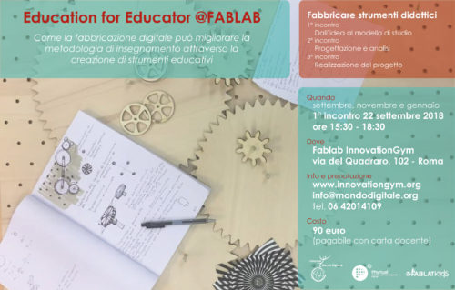 Education for educator at FabLab